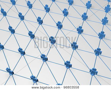 Network, Communication Abstract  Background Idea Illustration
