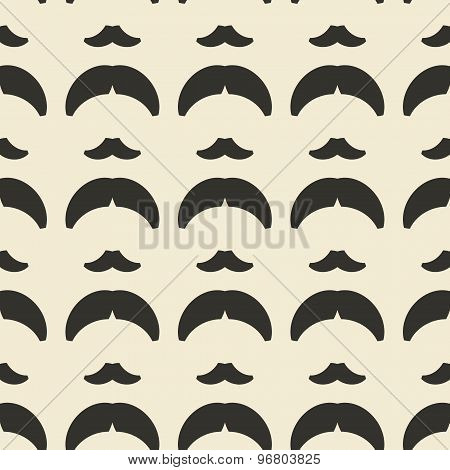 Geometric Ornament Seamless Pattern.  Textile Design Template Seamless Background. Mustache And Hair