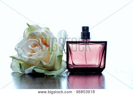 Perfume On A White Background