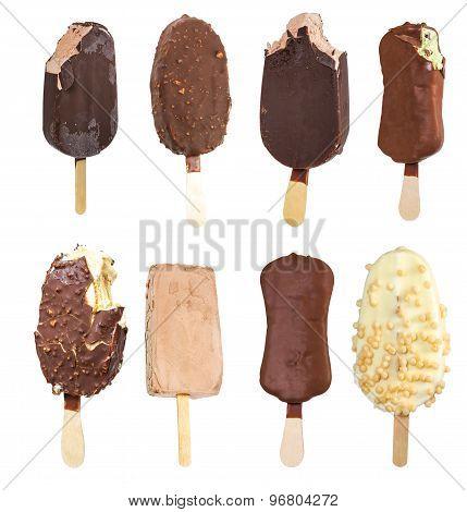 Set Of Ice Cream On A Stick