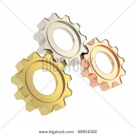 Set of a cogwheel gears