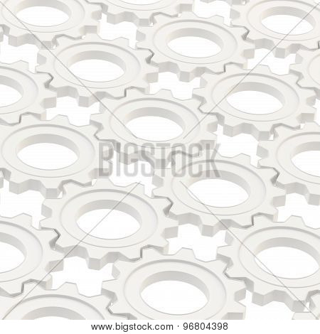 Surface covered with cogwheel gears