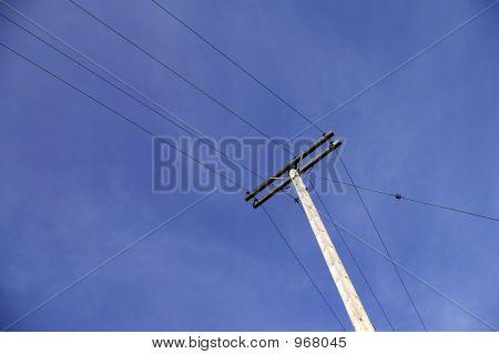 Overhead Telephone Pole