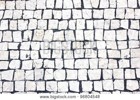 White square floor