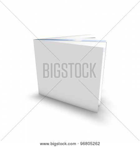 Empty Leaflet Standing With Blank Cover, Template Isolated