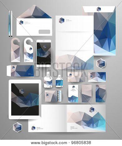 Abstract polygonal business set