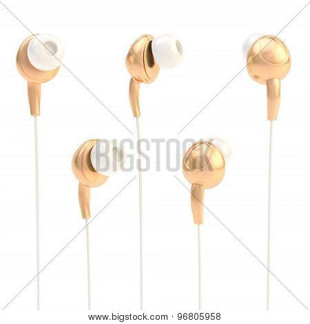 In-ear headphones isolated