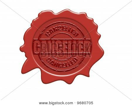 Cancelled Wax Seal