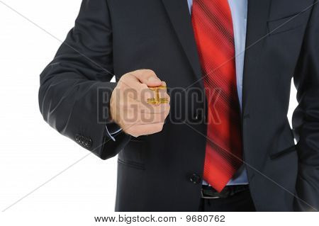 Businessman Gives The Key