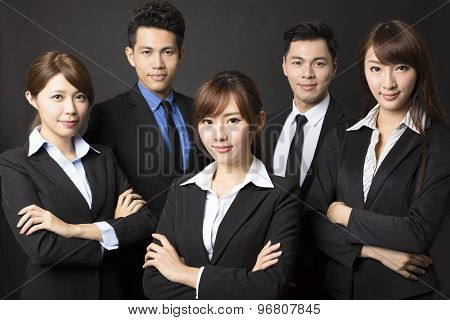 Young Businesswoman With Successful Business Team