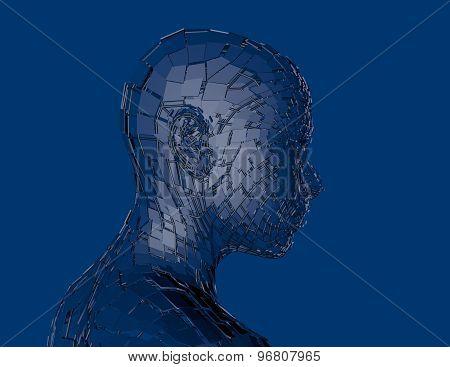 Cyber Woman 3D Render