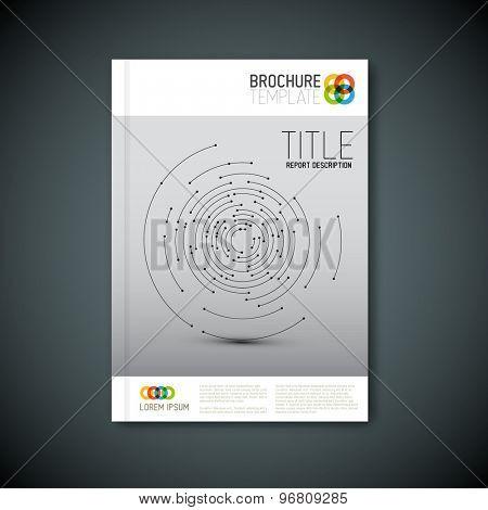 Modern Vector abstract brochure, report or flyer design template