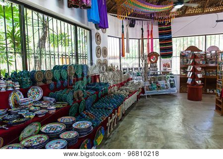 Souvenir Market With Different Goods