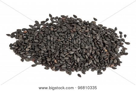 Black Sesame or botanical name Sesamum Indicum Seeds.