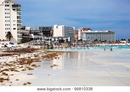 Spring Break Party On Caribbean Sea Beach