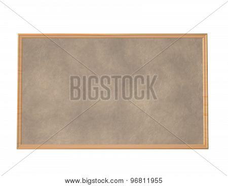 Empty Cork Board Isolated Render Illustration