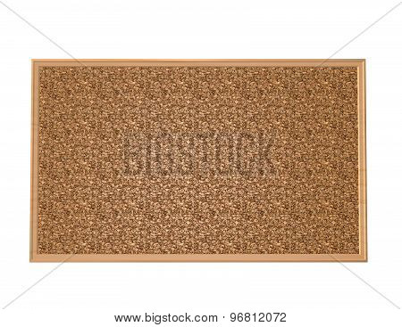 Blank Wood Cork Board, With Blank Copy Space, Isolated