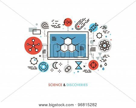 STEM Education Flat Line Illustration