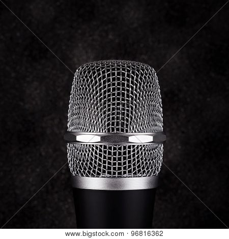 Wireless Microphone On Black Background