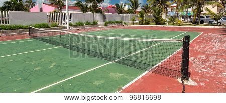 Outdoor Tennis Net At Court