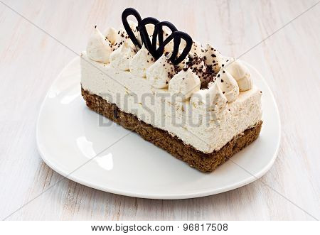 Cake With Cream And Cocoa