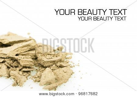 Crushed Yellow Eyeshadows On White Background