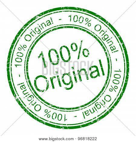 100% Original rubber stamp