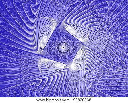 Purple and white fractal pattern