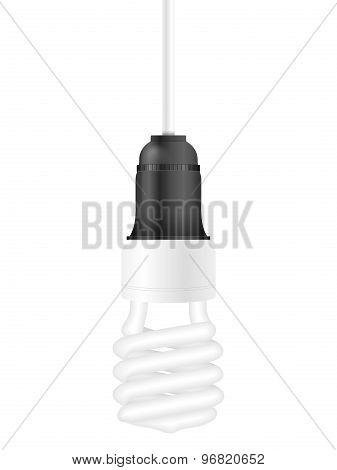 Bulb On White