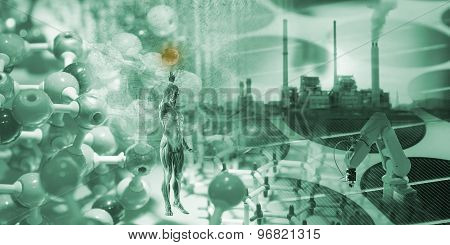 Science Background Design With Object Science.
