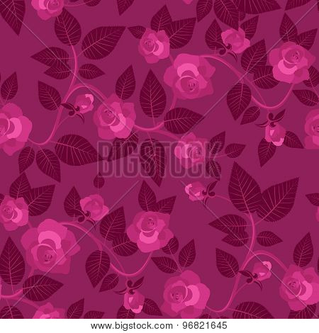 Romantic Seamless Pattern With Roses