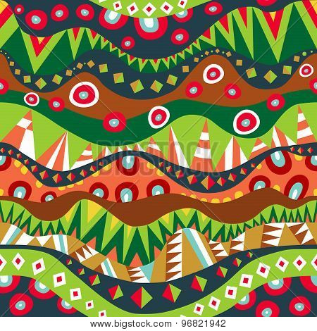 Festival Tribal Seamless Pattern