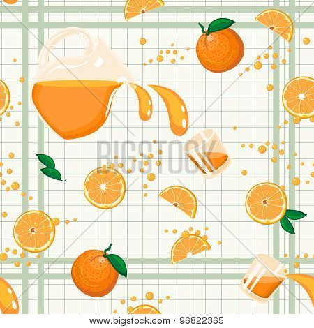 Orange Juice Seamless Pattern
