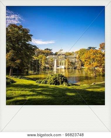 Instant Photo Of  Madrid: Crystal Palace In Retiro Park