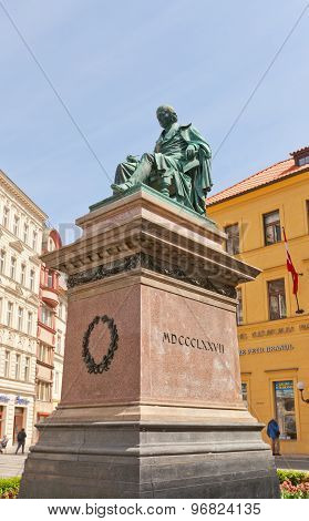 Monument To Czech Poet Josef Jungmann In Prague