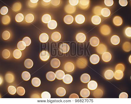 Abstract Defocused And Blur Bokeh Of Small Yellow Flames