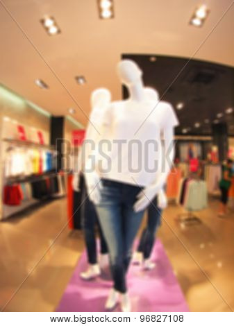 Female Mannequins In A Clothing Store