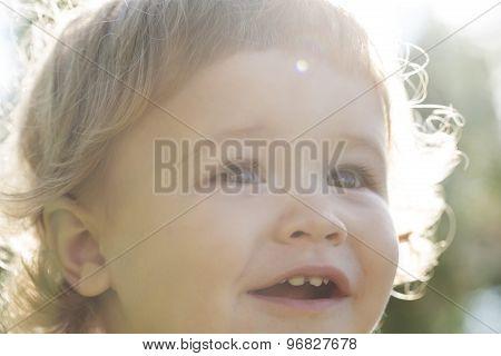 Little Boy Closeup