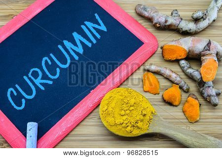 Curcumin, The Principle Curcuminoid In Turmeric That Are Responsible For The Yellow Color