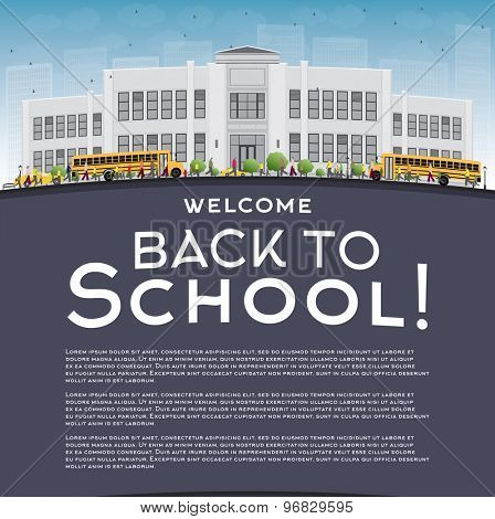 Back to School Concept with copy space for text. Vector illustration