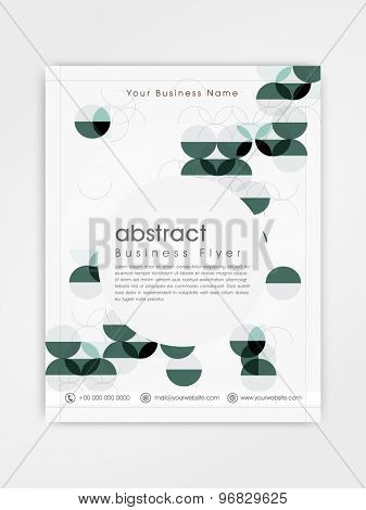 Abstract business flyer, template or brochure design for your corporate need.