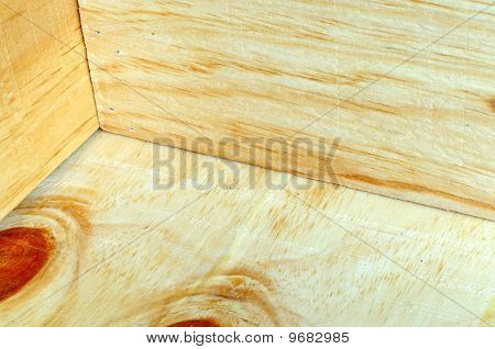 Corner of wooden carton