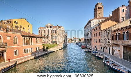 Venice Canal And Buildings
