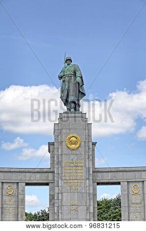Berlin, Germany - 28 June 2015: Monument Of Soviet Soldiers, Memorial Tiergarten On June 28, 2015. B