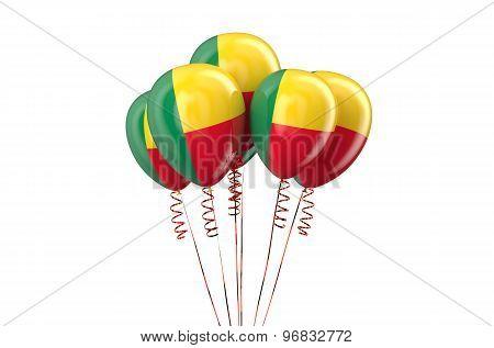 Benin Patriotic Balloons,  Holyday Concept