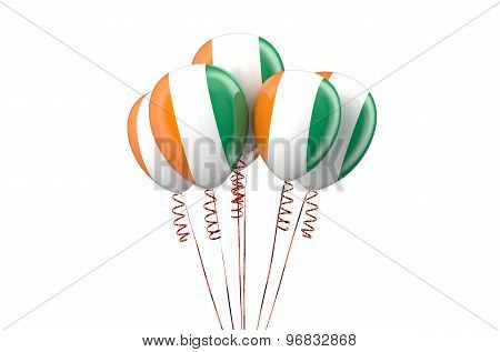 Ivory Coast Patriotic Balloons,  Holyday Concept
