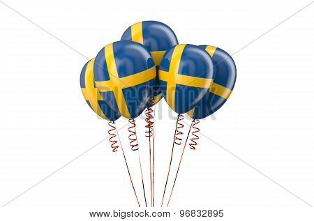Sweden Patriotic Balloons,  Holyday Concept