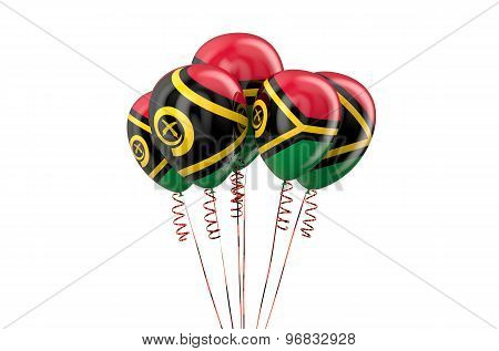 Vanuatu Patriotic Balloons,  Holyday Concept