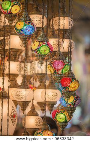 Mosaic Ottoman lamps from Grand Bazaar