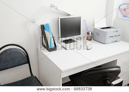 Interior of a doctor office